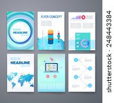 templates. set of web  mail ... | Shutterstock .eps vector #248443384