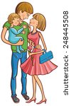 happy family with a baby.... | Shutterstock .eps vector #248445508