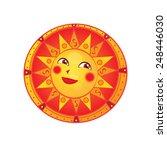 russian traditinal sun | Shutterstock .eps vector #248446030