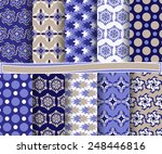 set of  abstract vector paper... | Shutterstock .eps vector #248446816