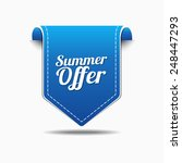summer offers blue vector icon... | Shutterstock .eps vector #248447293