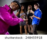 laughing at a man getting... | Shutterstock . vector #248455918