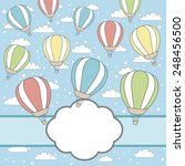 vector card with air balloons ...   Shutterstock .eps vector #248456500