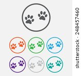 animal paw prints icons paw ... | Shutterstock .eps vector #248457460