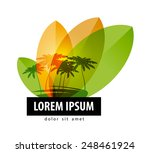 Palm Trees Logo Design Templat...