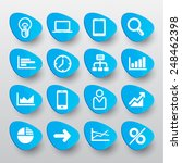 sign icon set in blue. simple... | Shutterstock .eps vector #248462398