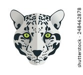 jaguar head flat logo vector for a sport team