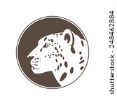 jaguar head flat logo vector