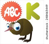 animal abc  k is for cute... | Shutterstock .eps vector #248465449