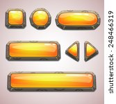 set of cartoon yellow buttons... | Shutterstock .eps vector #248466319