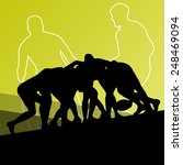 rugby player active young men... | Shutterstock .eps vector #248469094