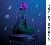 illustration of a meditating... | Shutterstock .eps vector #248470879