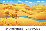 autumn landscape  trees and...   Shutterstock .eps vector #24849211