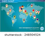 g20 country flags with worldmap ... | Shutterstock .eps vector #248504524