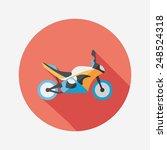 transportation motorcycle flat... | Shutterstock .eps vector #248524318