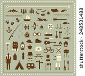vector set camping icons ... | Shutterstock .eps vector #248531488