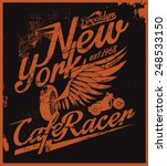 New York Cafe Racer Tee Graphic