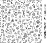 doodle spa elements  seamless... | Shutterstock .eps vector #248533813