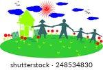 happy family   Shutterstock .eps vector #248534830