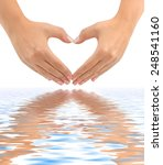 Heart Made Of Hands Isolated O...