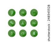 flat icon set  green