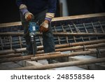 construction worker on... | Shutterstock . vector #248558584