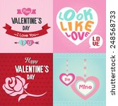 valentines day cards with... | Shutterstock .eps vector #248568733