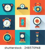 vector clock icon flat style | Shutterstock .eps vector #248570968