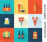 beer icons set | Shutterstock .eps vector #248571190