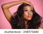 african model with nice makeup... | Shutterstock . vector #248573680