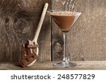 chocolate mousse with chocolate ... | Shutterstock . vector #248577829