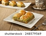 turkish ramadan dessert baklava ...   Shutterstock . vector #248579569