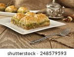 turkish ramadan dessert baklava ...   Shutterstock . vector #248579593