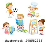 kid's hobbies | Shutterstock .eps vector #248582338