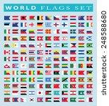 world flags icon  vector... | Shutterstock .eps vector #248588680