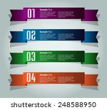 colorful modern text box... | Shutterstock .eps vector #248588950