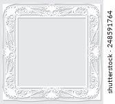 carved vintage frame made of... | Shutterstock .eps vector #248591764
