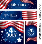 abstract usa flag  4th of july... | Shutterstock .eps vector #248592970