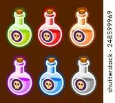 poison cartoon bottles liquids...