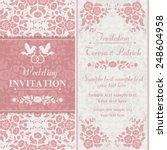 antique baroque wedding... | Shutterstock .eps vector #248604958