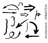 hand drawn vector arrows set | Shutterstock .eps vector #248607514