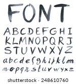 handwritten font. watercolor.... | Shutterstock .eps vector #248610760