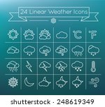 linear  vector weather icons...