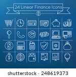 linear finance icons set on...
