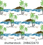 design coconut trees  beaches... | Shutterstock .eps vector #248622673