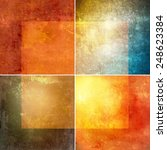 grunge colored collage | Shutterstock . vector #248623384