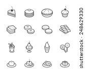 dessert icons | Shutterstock .eps vector #248629330