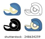 scotch tape icons set. vector... | Shutterstock .eps vector #248634259