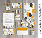 white corporate identity... | Shutterstock .eps vector #248644510