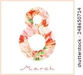 watercolor spring card. happy... | Shutterstock .eps vector #248650714